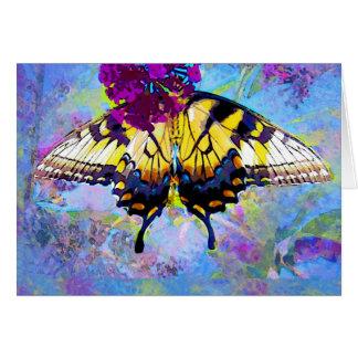 La mariposa consigue pronto la tarjeta bien