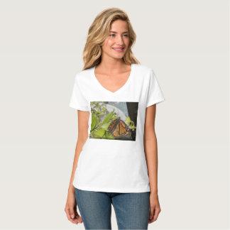 La mariposa de monarca camiseta