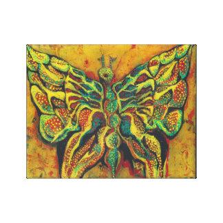 """La mariposa de oro 14"""" x11"""" estiró la impresión"""