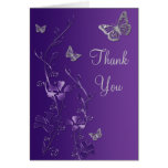 La mariposa de plata púrpura floral le agradece ta