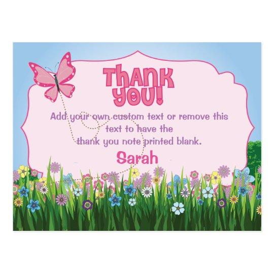 La mariposa le agradece las tarjetas