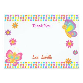 La mariposa le agradece las tarjetas invitación 12,7 x 17,8 cm