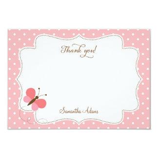La mariposa rosada le agradece cardar invitación 8,9 x 12,7 cm