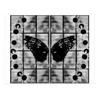 La mariposa se va volando blanco negro de las tari tarjetas postales