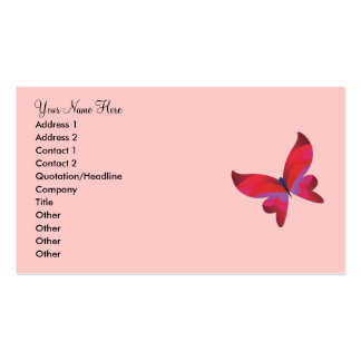 La mariposa soña la tarjeta personal y de visita