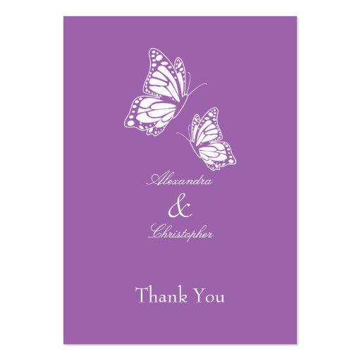 La mariposa violeta simple le agradece marcar con  tarjeta de visita