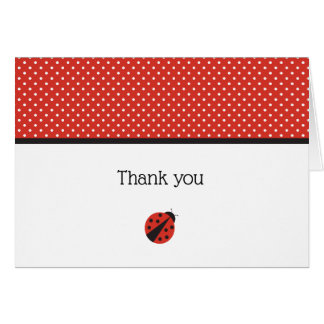 La mariquita le agradece tarjeta de nota