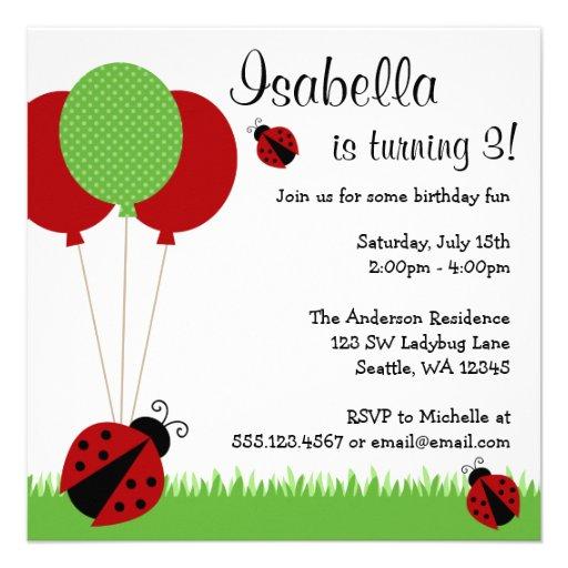 La mariquita roja hincha invitaciones de la fiesta comunicados