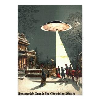 la más gest inesperado para la cena de navidad invitación 12,7 x 17,8 cm