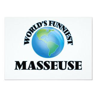 La masajista más divertida del mundo invitación 12,7 x 17,8 cm