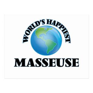 La masajista más feliz del mundo postal