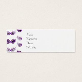 La mascarada púrpura bonita enmascara carnaval tarjeta de visita pequeña