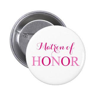 La matrona del honor chapa redonda de 5 cm