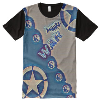La mayoría de la estrella popular de Yin Yang del Camisetas Con Estampado Integral