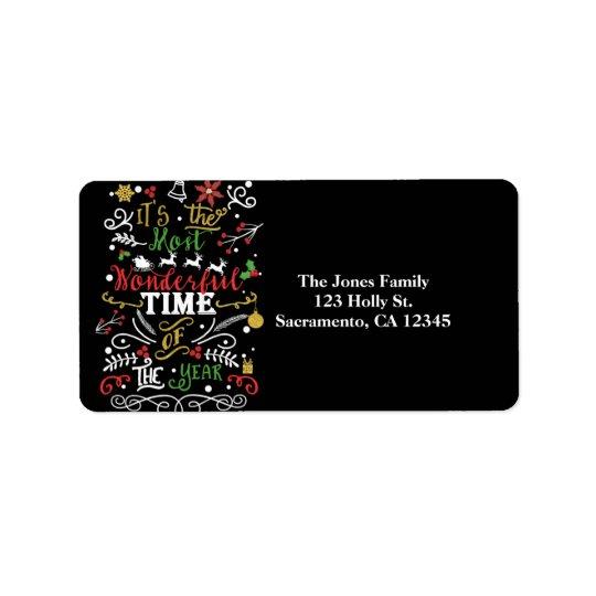 La mayoría de la hora maravillosa de la tarjeta de etiquetas de dirección
