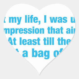 la mayoría de la mi vida era bajo impresión ese pegatina en forma de corazón