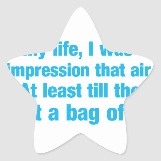 la mayoría de la mi vida era bajo impresión ese pegatina en forma de estrella