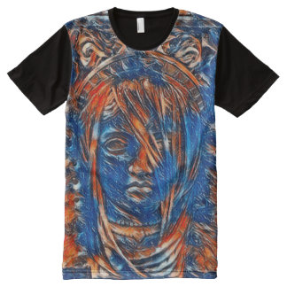 La mayoría de la pintura acrílica popular del camiseta con estampado integral