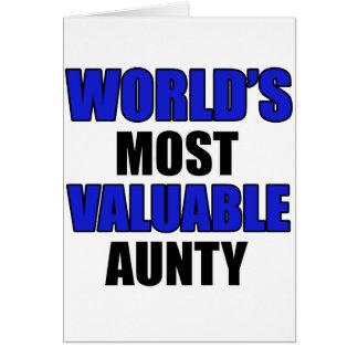 la mayoría de la tía valiosa tarjetas