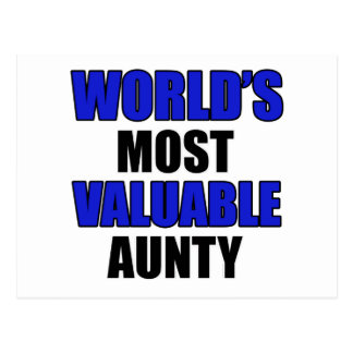 la mayoría de la tía valiosa postal