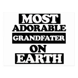 La mayoría del abuelo adorable postal