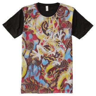 La mayoría del arte chino popular del carnaval del camisetas con estampado integral