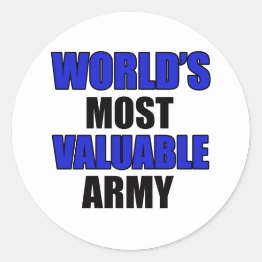la mayoría del ejército valioso etiqueta redonda