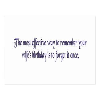 La mayoría del modo eficaz de recordar sus wifes postal