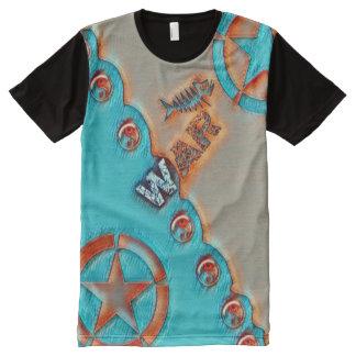 La mayoría del símbolo popular de Yin Yang de la Camiseta Con Estampado Integral