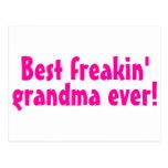 La mejor abuela de Freakin nunca (rosa) Tarjeta Postal