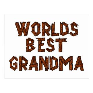 La mejor abuela del mundo tarjeta postal