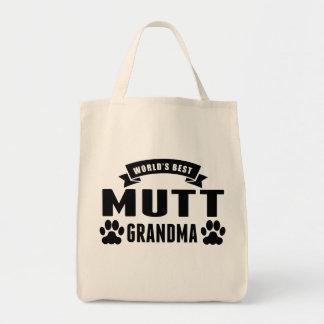 La mejor abuela del Mutt del mundo Bolsa Tela Para La Compra