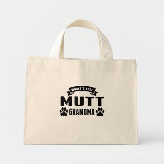 La mejor abuela del Mutt del mundo Bolsa Tela Pequeña