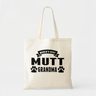 La mejor abuela del Mutt del mundo Bolsa Tela Barata