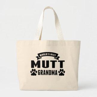 La mejor abuela del Mutt del mundo Bolsa Tela Grande