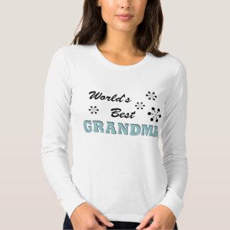 La mejor blusa de manga larga de la abuela de los camiseta