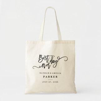 La mejor bolsa de asas del regalo de boda del día