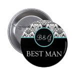 La mejor Botón-Aguamarina del hombre de la eleganc Pin