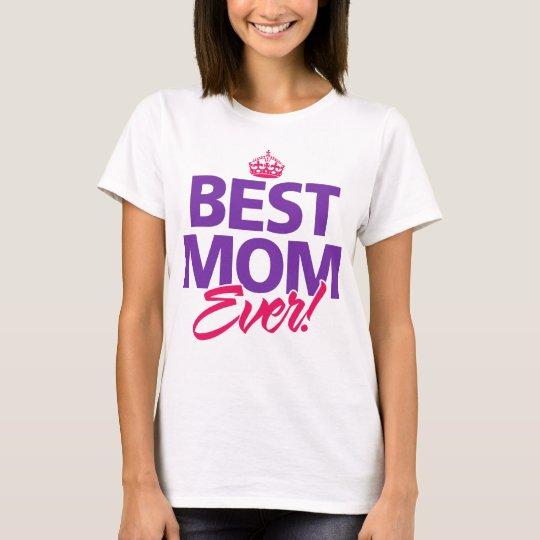 La mejor corona siempre feliz del día de madres de camiseta