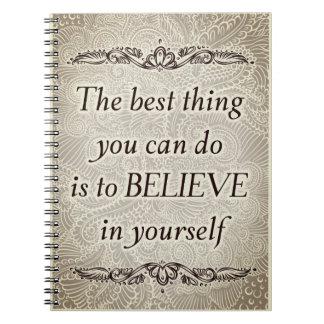 La mejor cosa - Quote´s positivo Cuaderno