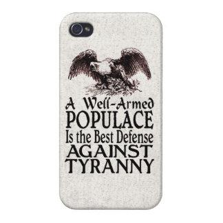 La mejor defensa del populacho armado bien contra iPhone 4 protector