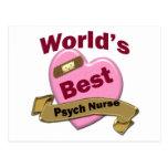 La mejor enfermera de Psych del mundo Tarjeta Postal