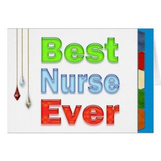 La mejor enfermera del día feliz de las enfermeras tarjeta de felicitación