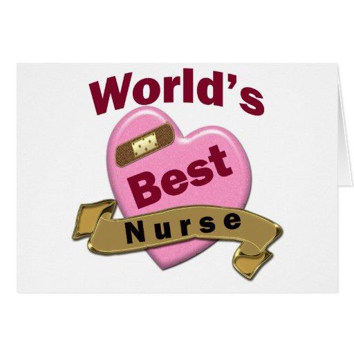 La mejor enfermera del mundo tarjetón