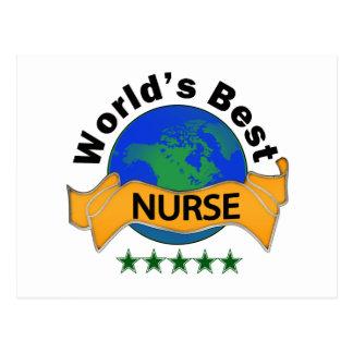 La mejor enfermera del mundo tarjeta postal