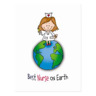 La mejor enfermera en la tierra - día de las postal