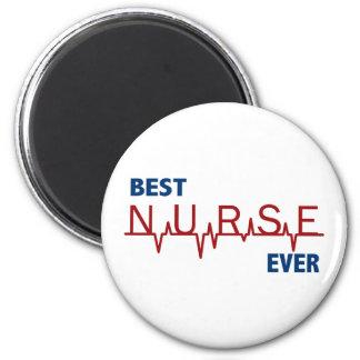 La mejor enfermera nunca imán redondo 5 cm