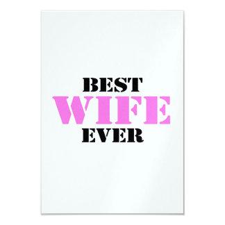 La mejor esposa nunca invitación 8,9 x 12,7 cm