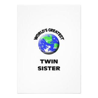 La mejor hermana gemela del mundo invitacion personalizada