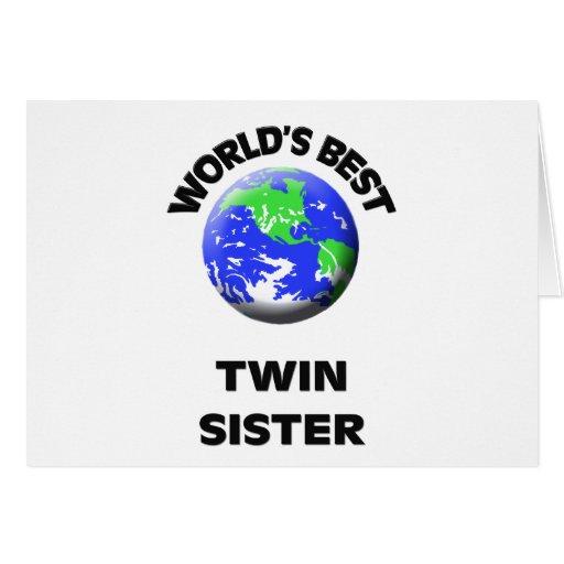 La mejor hermana gemela del mundo tarjetas